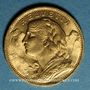 Münzen Suisse. Confédération. 20 francs Vreneli 1922 B. (PTL 900‰. 6,45 g)