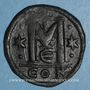 Münzen Empire byzantin. Anastase (491-518). Follis. Constantinople, 5e officine. 517-518