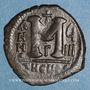Münzen Empire byzantin. Justin II (565-578). 1/2 follis. Théoupolis (Antioche).1ère officine 574-575