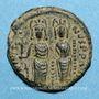 Münzen Empire byzantin. Justin II (565-578). 1/2 follis. Thessalonique. 568-569