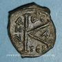Münzen Empire byzantin. Justin II (565-578). 1/2 follis. Thessalonique. 575-576