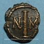 Münzen Empire byzantin. Justin II (565-578). Décanoummion. Carthage, 572-573