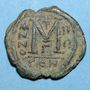 Münzen Empire byzantin. Justin II (565-578). Follis. Constantinople. 3e officine, 568-569
