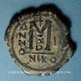 Münzen Empire byzantin. Justin II (565-578). Follis. Nicomédie, 2e officine, 568-569 ?