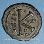 Münzen Empire byzantin. Justinien I (527-565). 1/2 follis. Théoupolis, 547-548