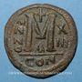 Münzen Empire byzantin. Justinien I (527-565). Follis. Constantinople. 1ère officine, 539-540