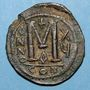 Münzen Empire byzantin. Justinien I (527-565). Follis. Constantinople. 1ère officine, 541-542