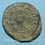 Münzen Empire byzantin. Justinien I (527-565). Follis. Constantinople, 4e officine. 547-548