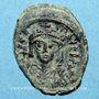Münzen Empire byzantin. Maurice Tibère (582-602). 1/2 follis. Constantinople, 3e officine. 582-583