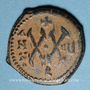 Münzen Empire byzantin. Maurice Tibère (582-602). 1/2 follis. Théopoulis (Antioche), 587-588