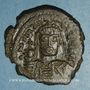 Münzen Empire byzantin. Maurice Tibère (582-602). Follis. Nicomédie, 1ère officine. 588-589