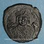 Münzen Empire byzantin. Maurice Tibère (582-602). Follis. Théopoulis. 3e officine, 597-598