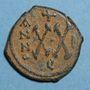 Münzen Empire byzantin. Phocas (602-610). 1/2 follis. Théoupolis (Antioche). 602-603