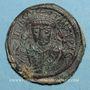 Münzen Empire byzantin. Tibère II Constantin (578-582). Follis. Constantinople. 5e officine, 581-582