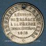 Münzen 2e centenaire Réunion de l'Alsace à la France (traité Westphalie). 1848. Médaille étain, flan mince