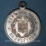 Münzen Alsace. Barr. Olympia Barr. 1896. Médaille laiton argenté, avec œillet