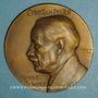 Münzen Alsace. Beblenheim. Christian Pfister historien, recteur, franc-maçon (1857-1933) 1932 méd. br 63mm