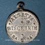 Münzen Alsace. Bischheim. Alsatia Bischheim. 1894. Médaille plomb, avec œillet