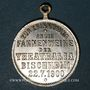 Münzen Alsace. Bischheim. Bénédiction du drapeau de l'association Théatralia. 1900. Médaille laiton argenté