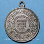 Münzen Alsace. Bitschwiller-les-Thann. Chorale. Bénédiction du drapeau. 1901. Médaille laiton argenté