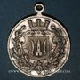 Münzen Alsace. Cernay. 75e anniversaire orchestre municipal et des pompiers. 1907. Médaille bronze argenté