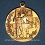 Münzen Alsace. Colmar. 2e tournoi de gymnastique du Haut-Rhin. 1905. Médaille bronze doré