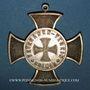 Münzen Alsace. Colmar. Association des Vétérans de 1870. 1883. Croix en bronze, avec son anneau