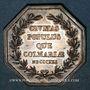 Münzen Alsace. Colmar. Conseil Municipal de 1821. Jeton octogonal en argent. Sans signature
