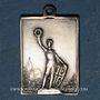 Münzen Alsace. Dannemarie. Tournoi régional de gymnastique. 1909. Médaille bronze argenté. 16,90 x 22,75 mm