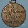 Münzen Alsace. Eugène Hartmann – Reconnaissance de l'Alsace. 1899. Médaille bronze coulée