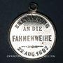 Münzen Alsace. Flaxlanden. Consécration du drapeau de la société Concordia. 1897. Médaille plomb-étain