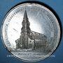 Münzen Alsace. Moosch. Consécration de l'église St Augustin. 1864. Médaille étain. 51 mm