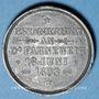 Münzen Alsace. Morschwiller le Bas. Chorale Ste Caecilia. Consécration drapeau. 1893. Médaille plomb. 28 mm