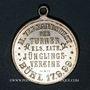 Münzen Bühl. 2e tournoi de gymnastique des associations de la jeunesse catholique.1899. Médaille laiton arg