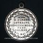 Münzen Colmar. 2e congrès des chorales d'Alsace-Lorraine. 1894. Médaille aluminium