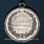 Münzen Colmar. Inauguration de la Maison du Commerce. 1902. Médaille aluminium. 29,26 mm, avec son œillet