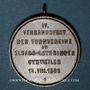 Münzen Guebwiller. 4e tournoi de gymnastique des associations d'Alsace et de Lorraine 1898. Médaille Cuivre