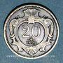Münzen Autriche. François Joseph I (1848-1916). 20 heller 1892