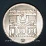Münzen Autriche. République. 100 schilling (1975). Immeuble et anneaux olympiques - Aigle