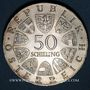 Münzen Autriche. République. 50 schilling 1967. 100e anniversaire de la valse Le Beau Danube Bleu