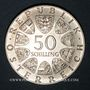 Münzen Autriche. République. 50 schilling 1974. 50e anniversaire de la Radio autrichienne
