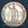 Münzen Belgique. Léopold III (1934-1950). 50 francs 1935. Centenaire des Chemins de Fer Belges. Légende fr.