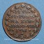 Münzen Vatican. Bologne. Pie VI (1775-1799). 1/2 baiocco 1781, an VII