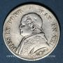 Münzen Vatican. Pie IX (1846-1878). 1 lire 1866R, an XXI. Petit buste