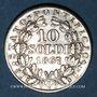 Münzen Vatican. Pie IX (1846-1878). 10 soldi 1867/7R, an XXI. Rome