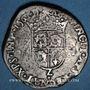 Münzen Charles IX (1560-1574). Monnayage au nom de Henri II. Teston du Dauphiné 1561 Z. Grenoble (Z pointé)