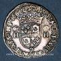 Münzen Charles IX (1560-74). Monnayage au nom de Henri II. Teston du Dauphiné 1561 Z et rose. Grenoble