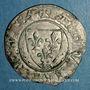 Münzen Charles VI (1380-1422). Blanc dit Guénar à l'O rond, 2e émission (1389). Angers