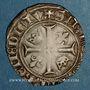 Münzen Charles VI (1380-1422). Blanc dit Guénar à l'O rond, 2e émission (1389). Romans