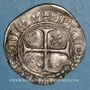 Münzen Charles VI (1380-1422). Blanc dit Guénar à l'O rond, 4e émission (1411). Sainte-Menehould